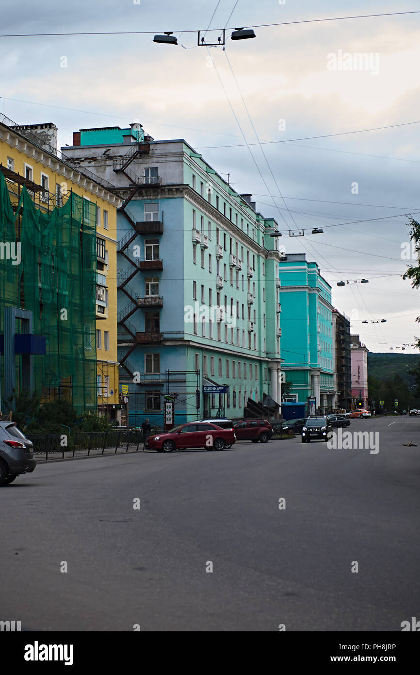 Street. building. journey. - Stock Image
