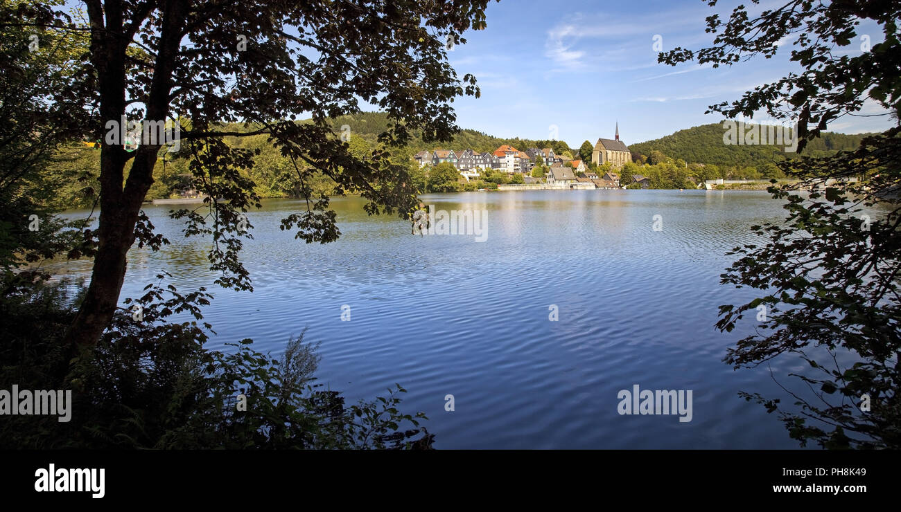 Beyenburger reservoir, Wuppertal - Stock Image