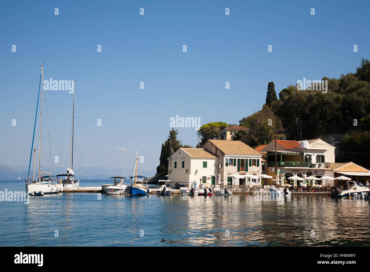 Longos village, Ionian Islands, Paxi island, Greece, Europe - Stock Image