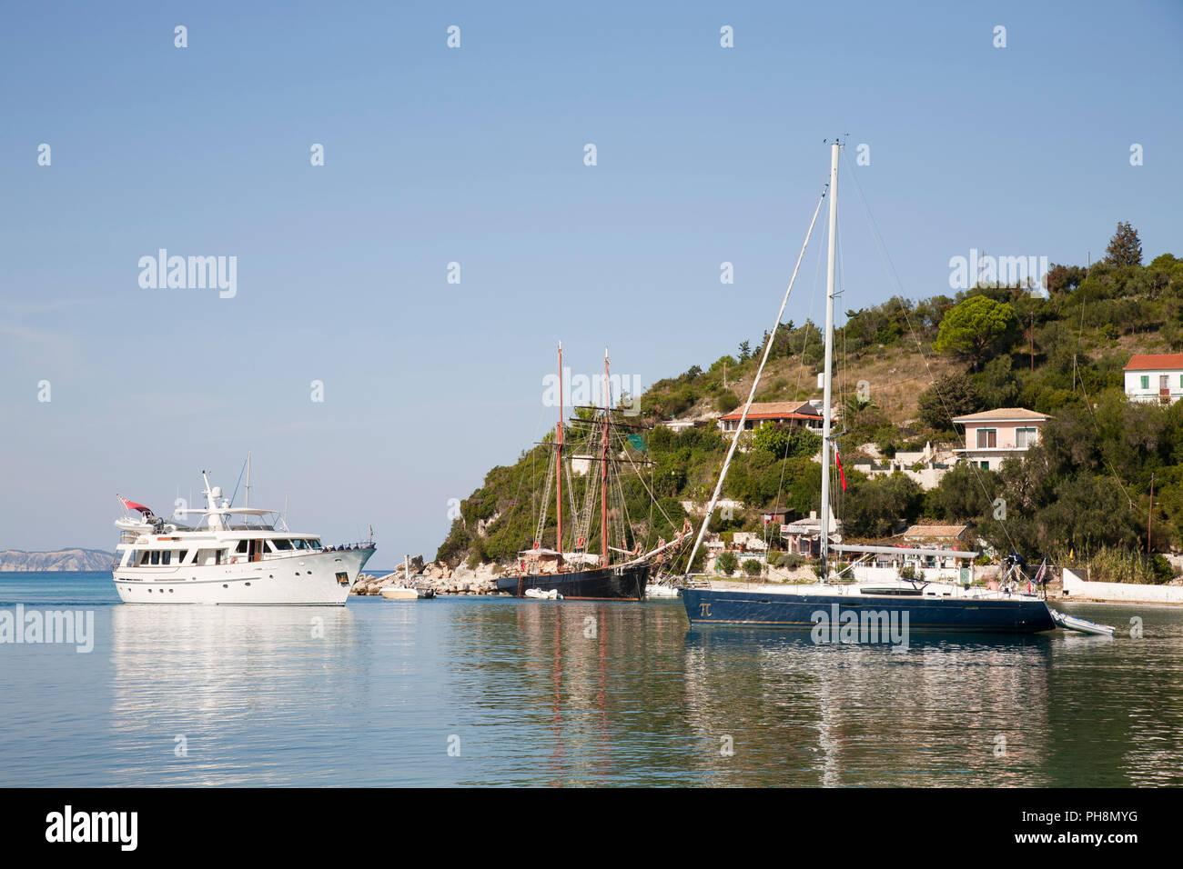 Lakka village, Ionian Islands, Paxi island, Greece, Europe - Stock Image
