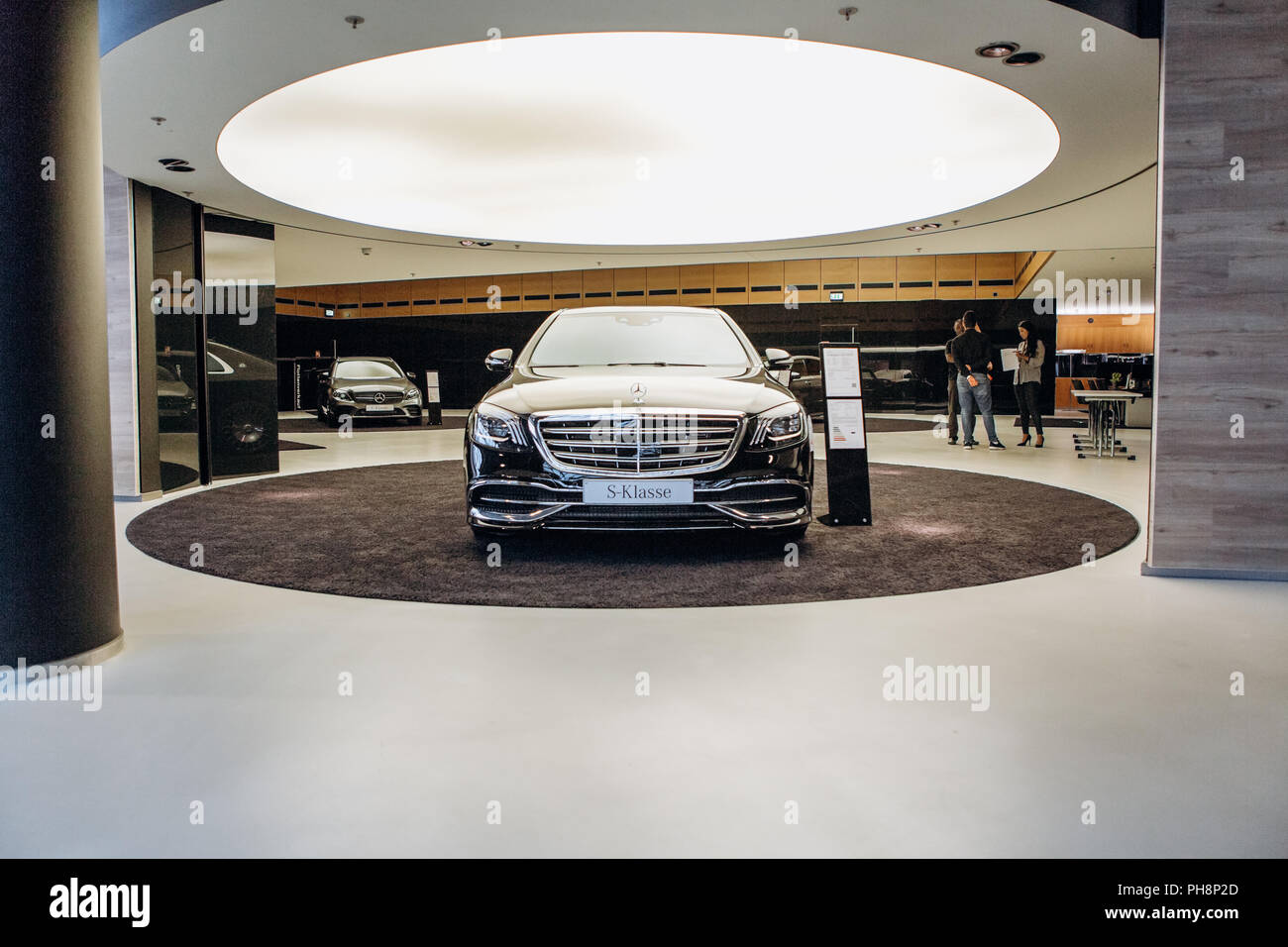 Berlin, August 29, 2018: Mercedes-Maybach car which is exhibited and sold in the official dealer's center in Berlin. Luxury branded expensive car. Stock Photo