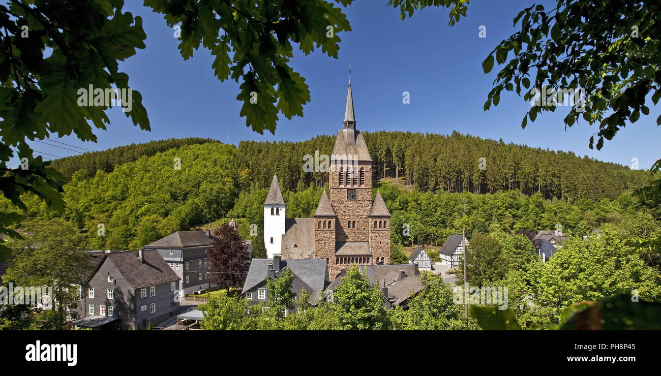 Church St. Peter and Paul in Kirchhundem - Stock Image