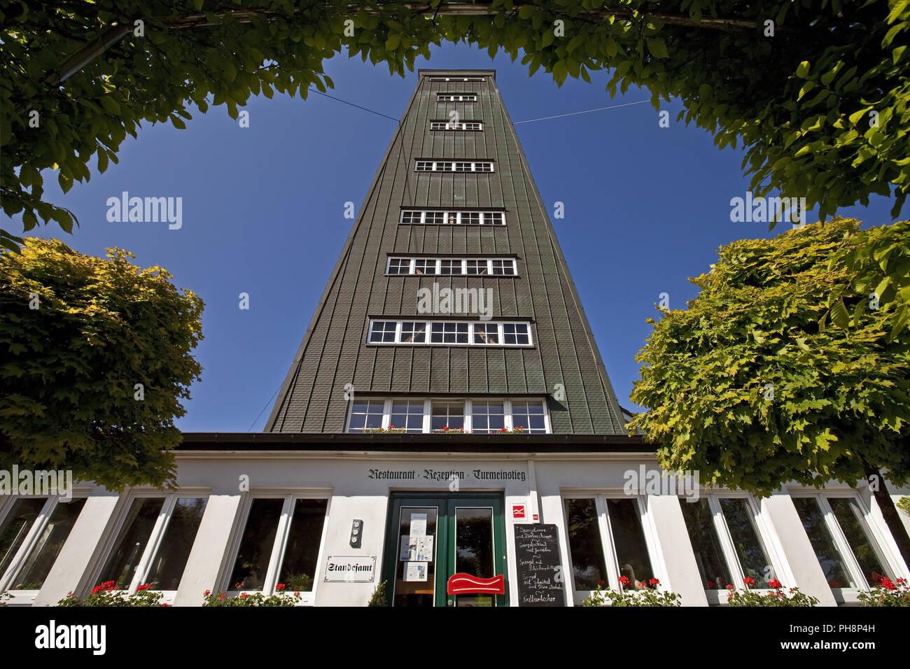 Rhein-Weser Tower, Kirchhundem, Germany Stock Photo