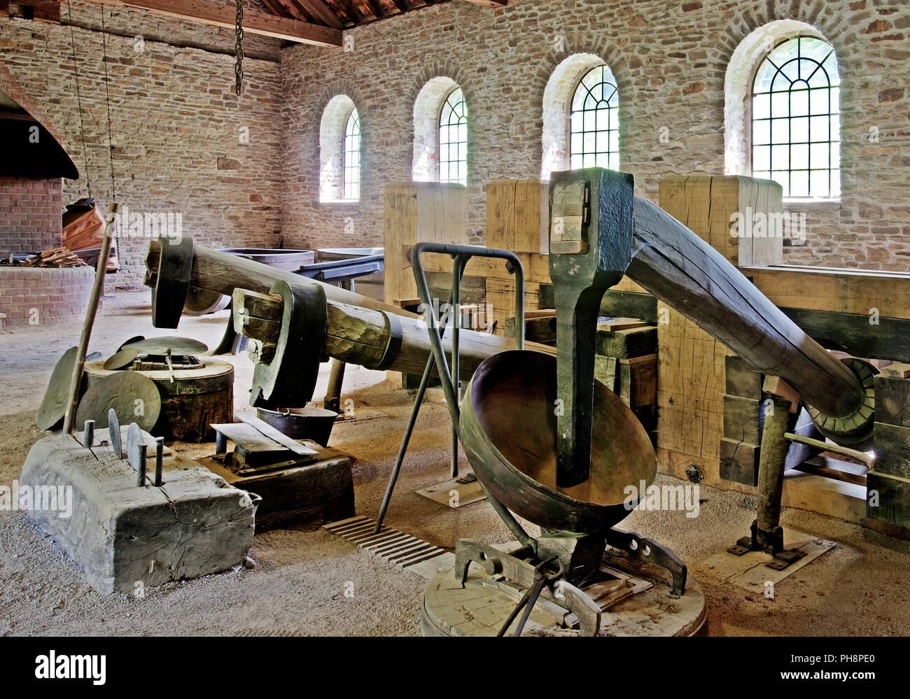 trip hammer of Hagen Open-air Museum, Germany - Stock Image