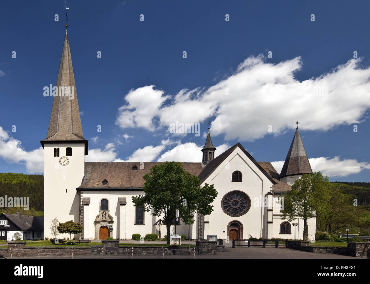 Parish Church of St Martin, Bigge, Olsberg - Stock Image