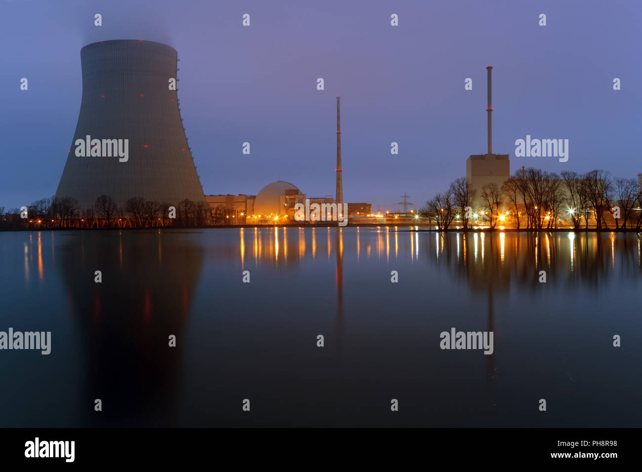 Kernkraftwerk Isar. - Stock Image