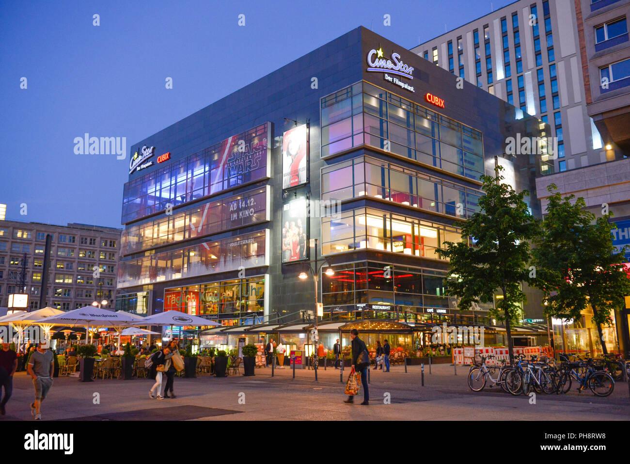 Cinestar Kino Alexanderplatz Mitte Berlin Deutschland Stock Photo Alamy