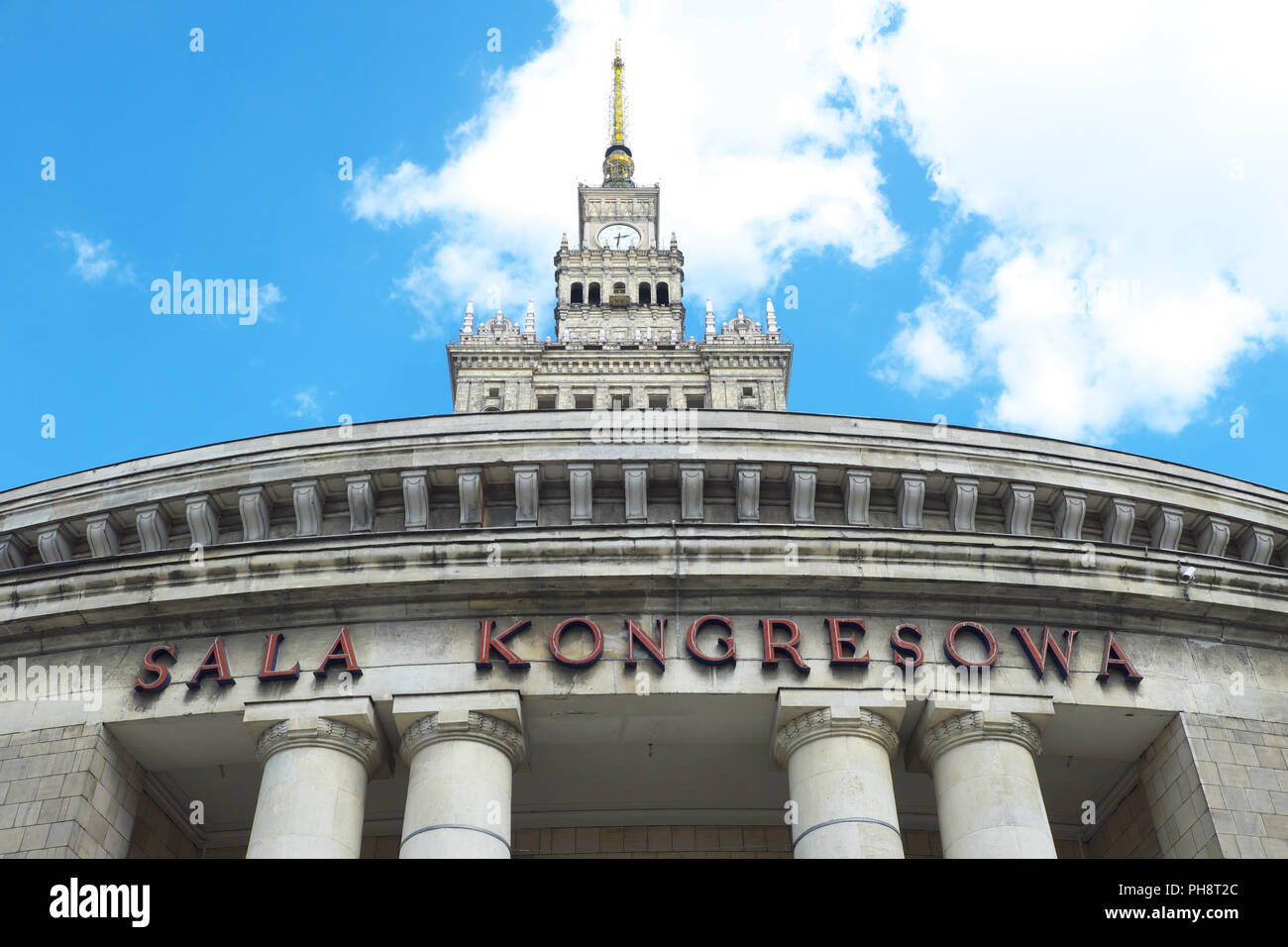 Warsaw Poland the Palace of Culture and Science in the city centre built in the 1950s Stock Photo