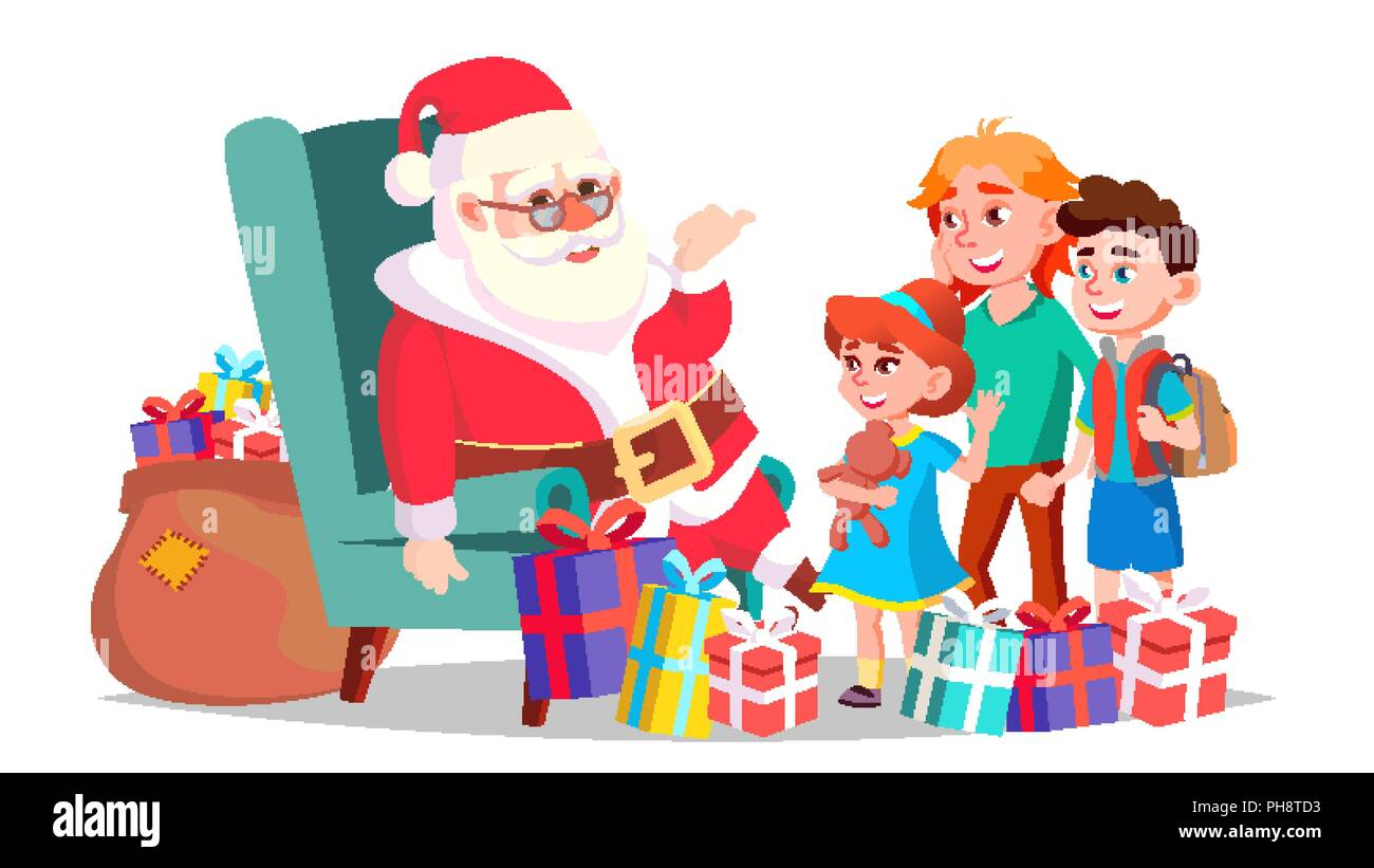 merry christmas and happy new year greeting postcard colorful design isolated cartoon illustration