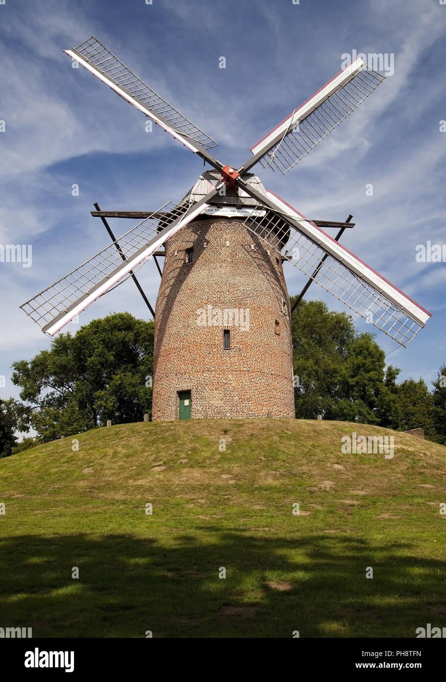 Geis Mill in Krefeld, Lower Rhine, Germany Stock Photo
