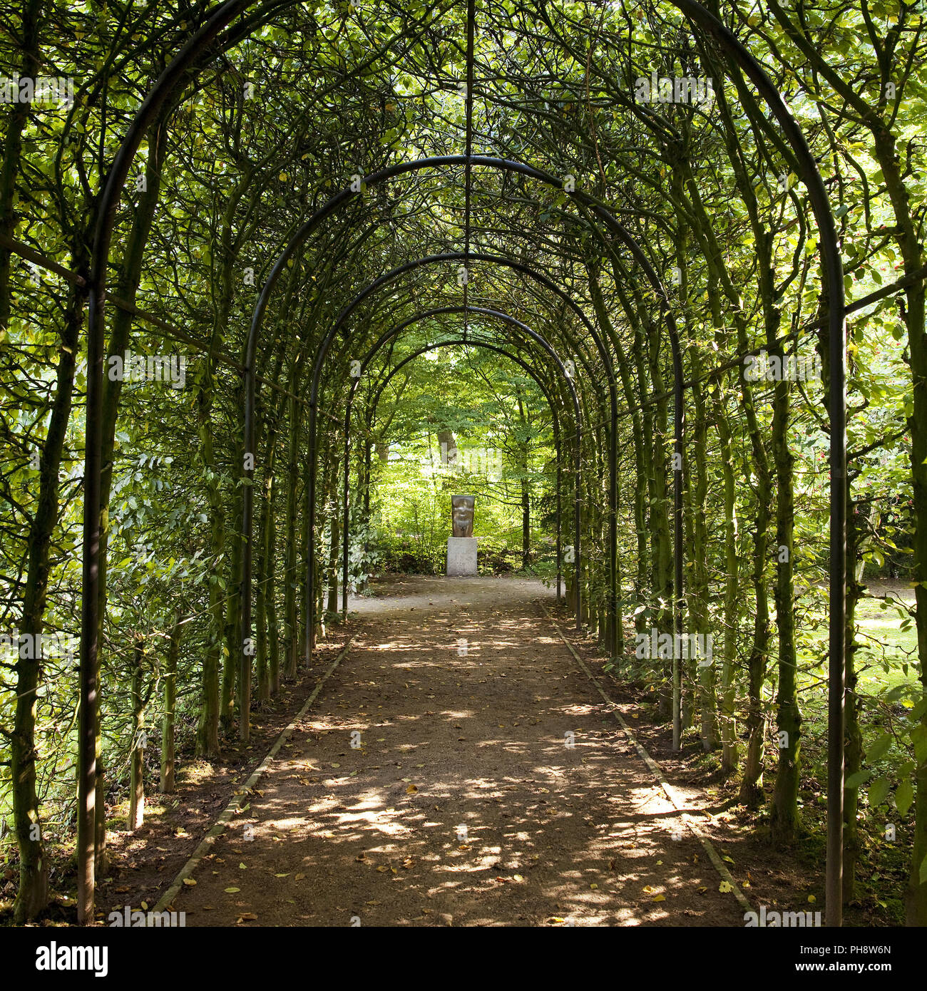 Access gallery, castle garden, Bedburg Hau - Stock Image