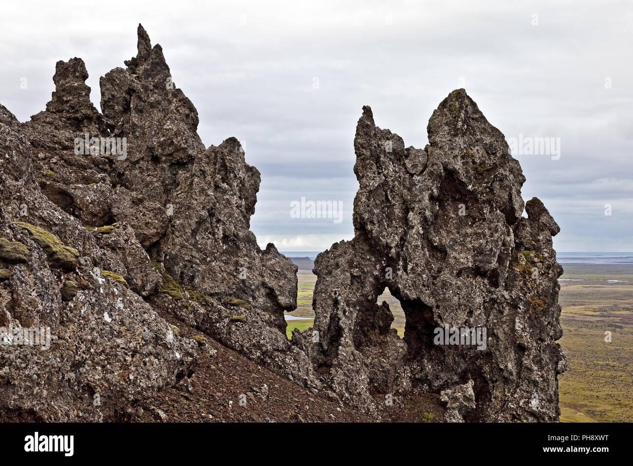 lava rocks of Kolbeinsstadarfjall, Snaefellsnes, Iceland - Stock Image