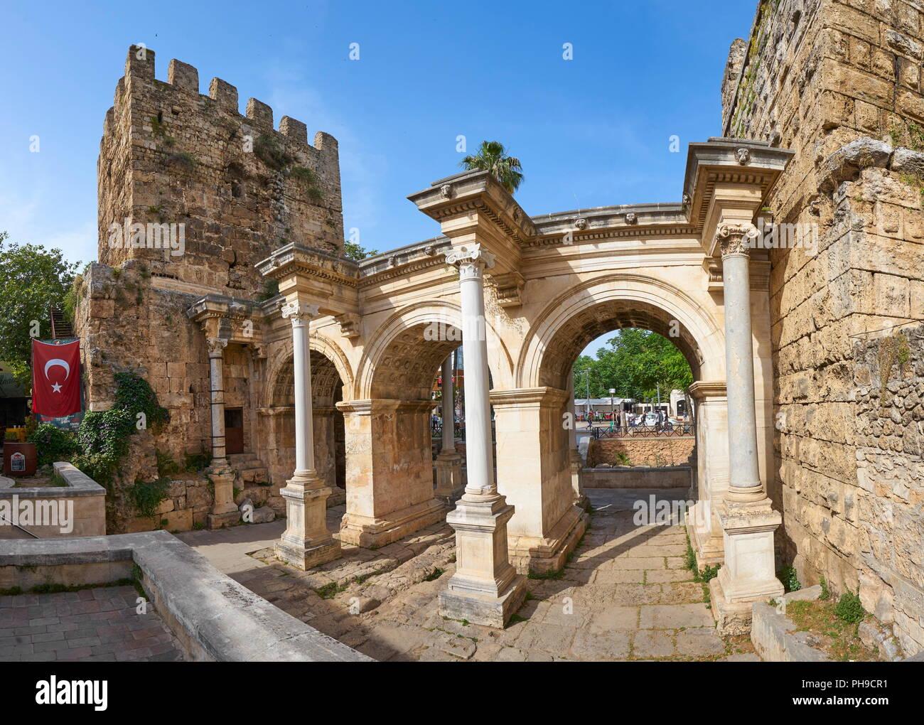 Hadrian's Gate, Antalya, Turkey - Stock Image