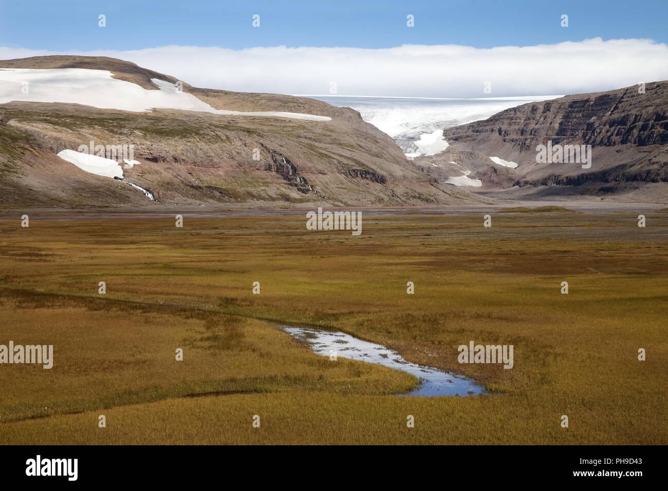 glacier Drangajoekull, Westfjorde, Iceland - Stock Image