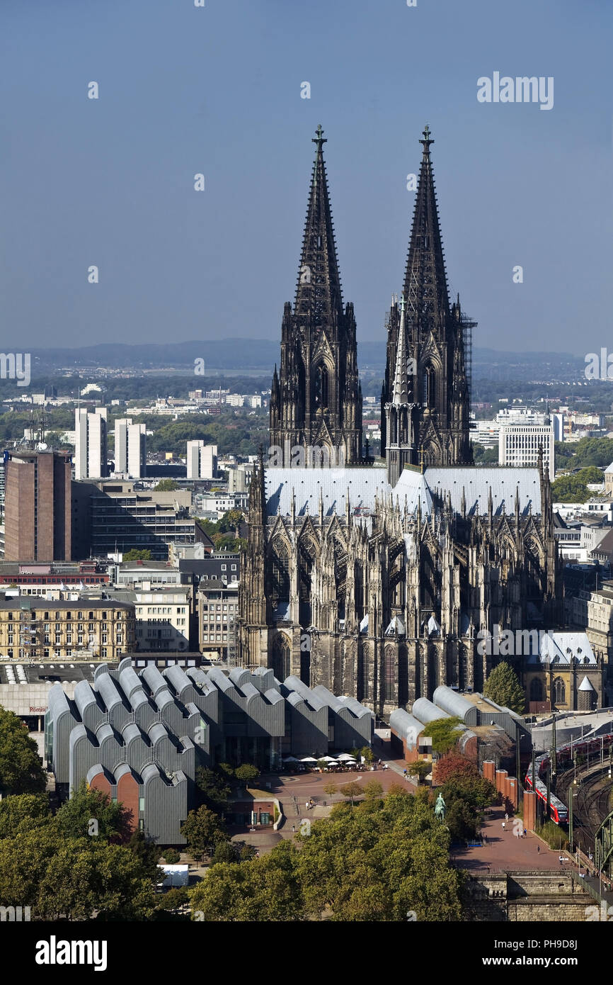 Cologne Cathedral, Cologne, North Rhine-Westphalia, Germany, Europe - Stock Image