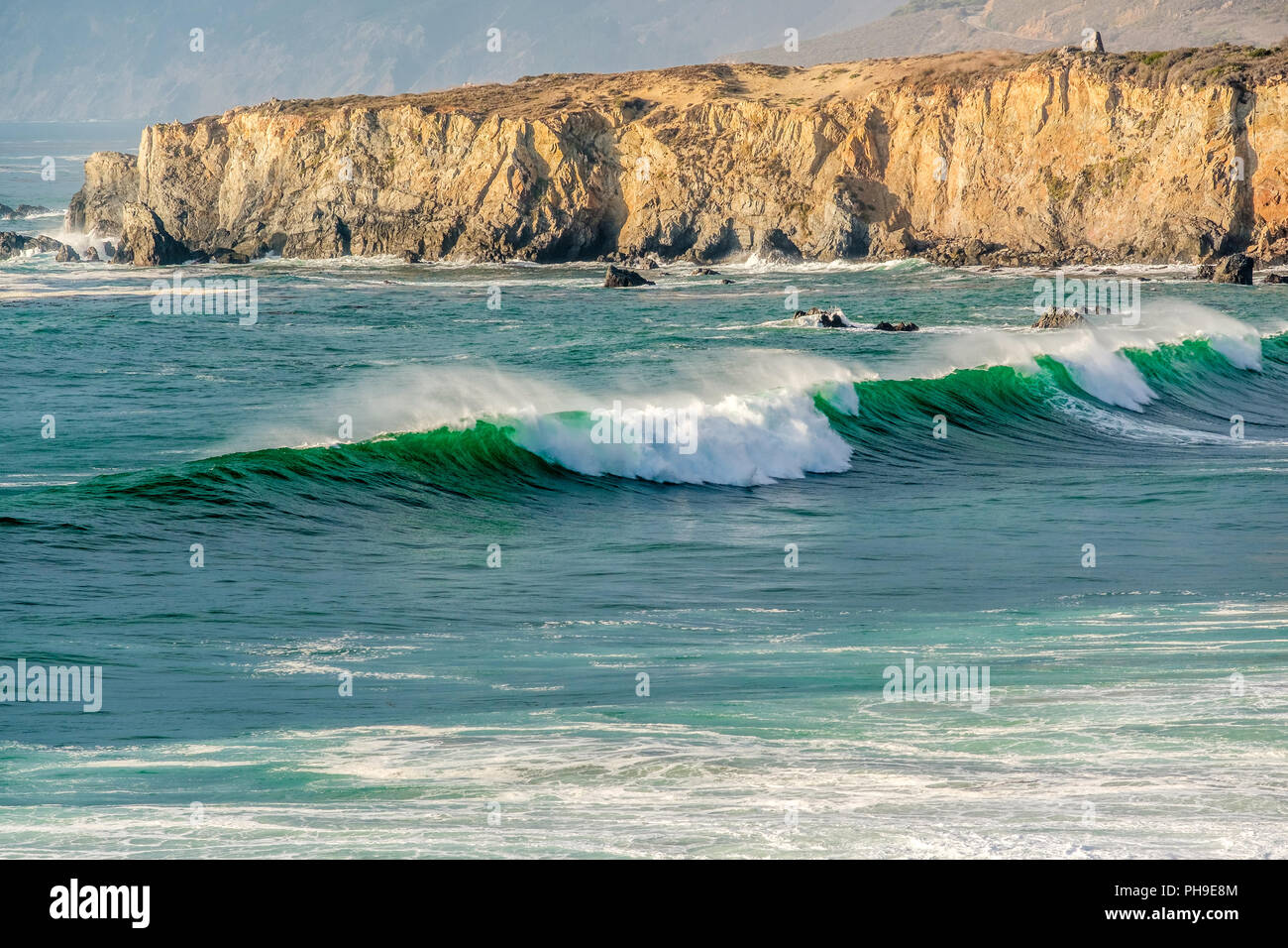 USA Pacific coast, Sand Dollar Beach, Big Sur, California - Stock Image