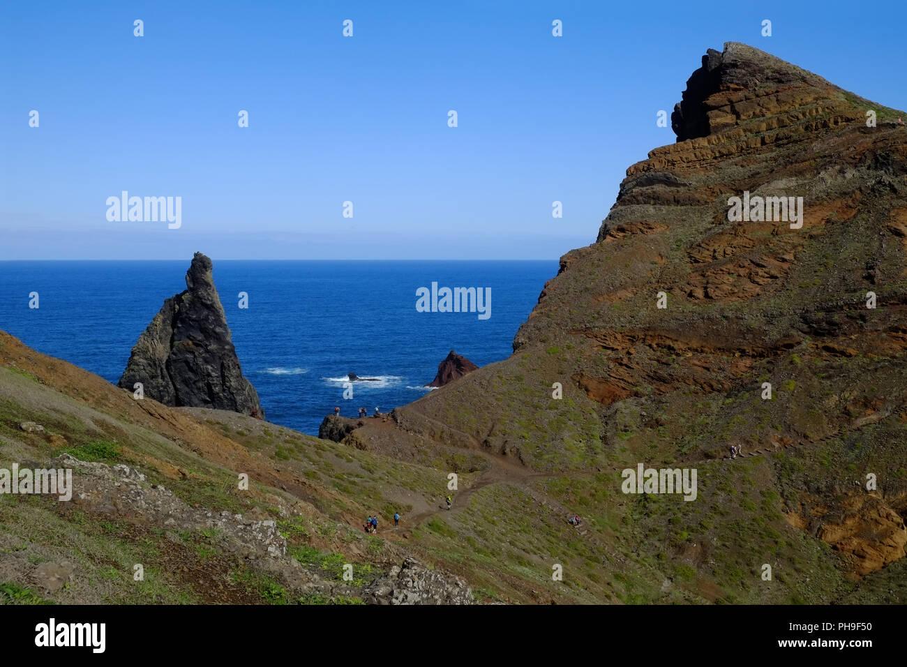Madeira, Ponta de Sao Lourenco, Northeast Coast - Stock Image