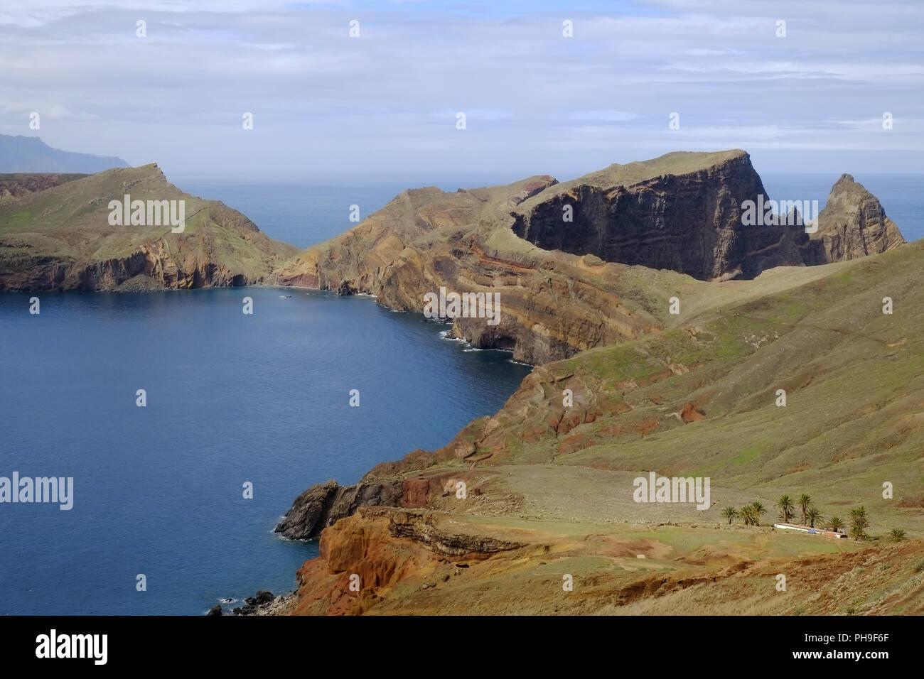 Ponta de Sao Lourenco, Madeira, Northeast Coast - Stock Image