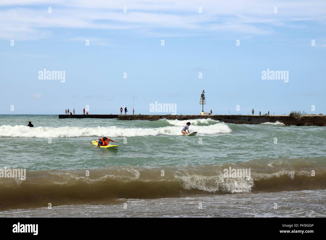 Kincardine, Ontario, Canada on August 28,2018, Station Beach on Lake Huron. - Stock Image