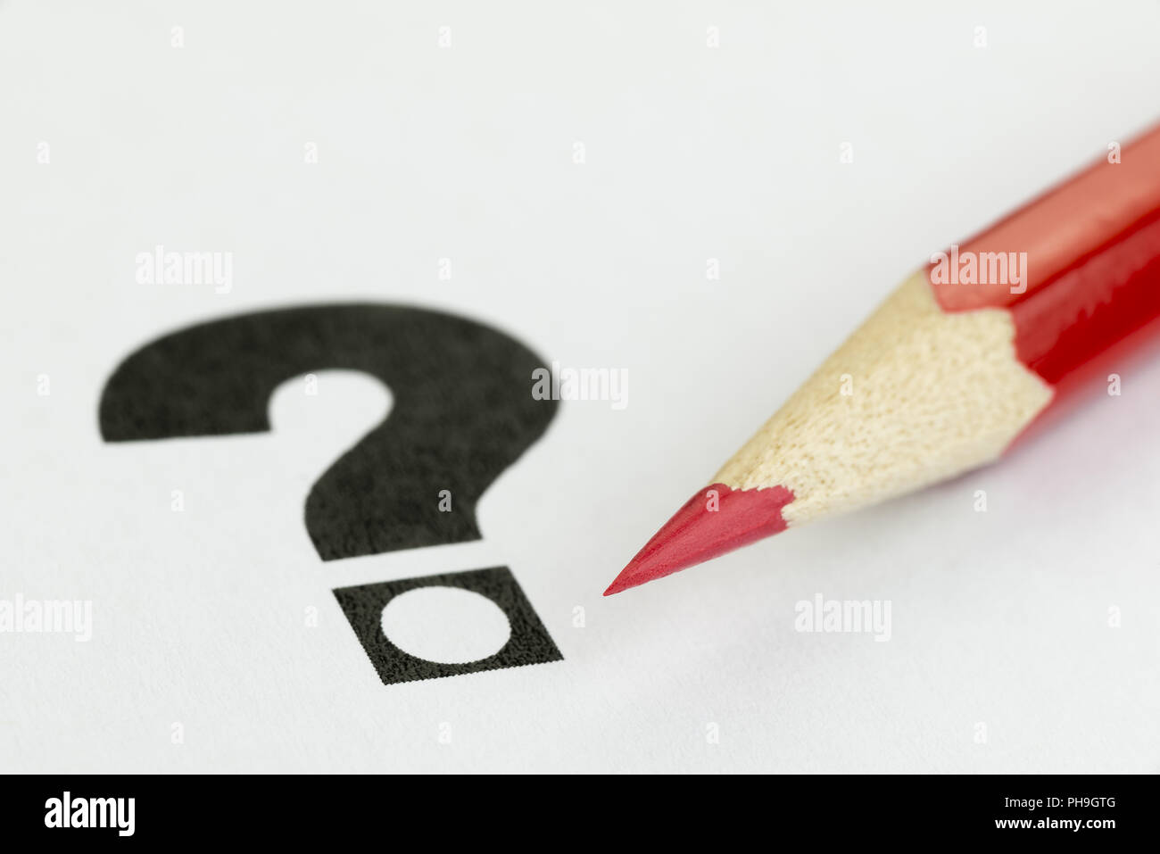 Conceptual visualization of doubt at voices - Stock Image