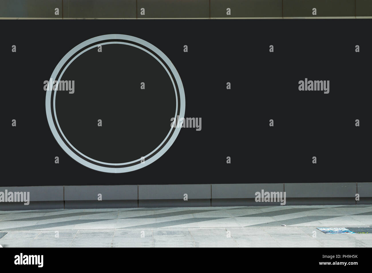 Black background for information of advertizing. - Stock Image