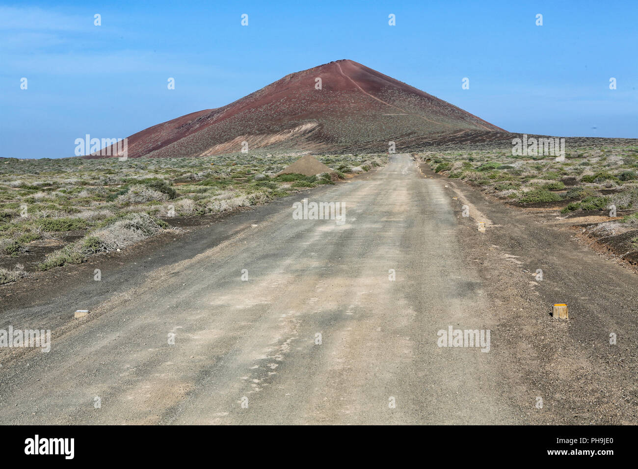 volcano at isla graciosa canarias - Stock Image