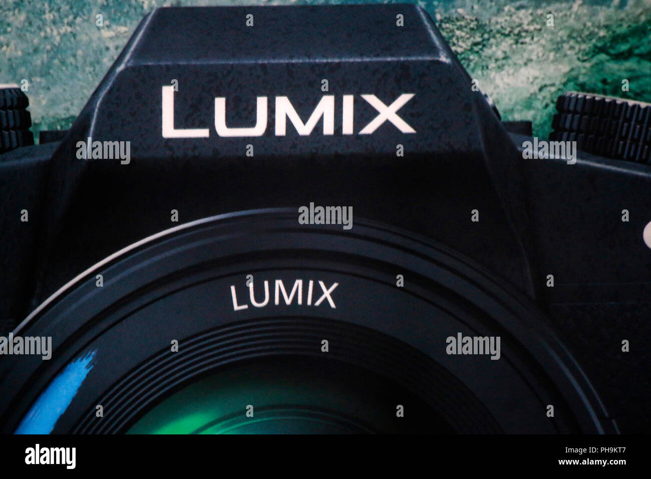 das Logo der Marke 'Panasonic Lumix G', Berlin. - Stock Image