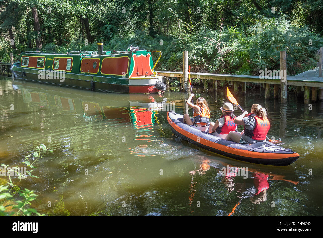 England, Hampshire, Farnborough, Basingstoke canal centre - Stock Image