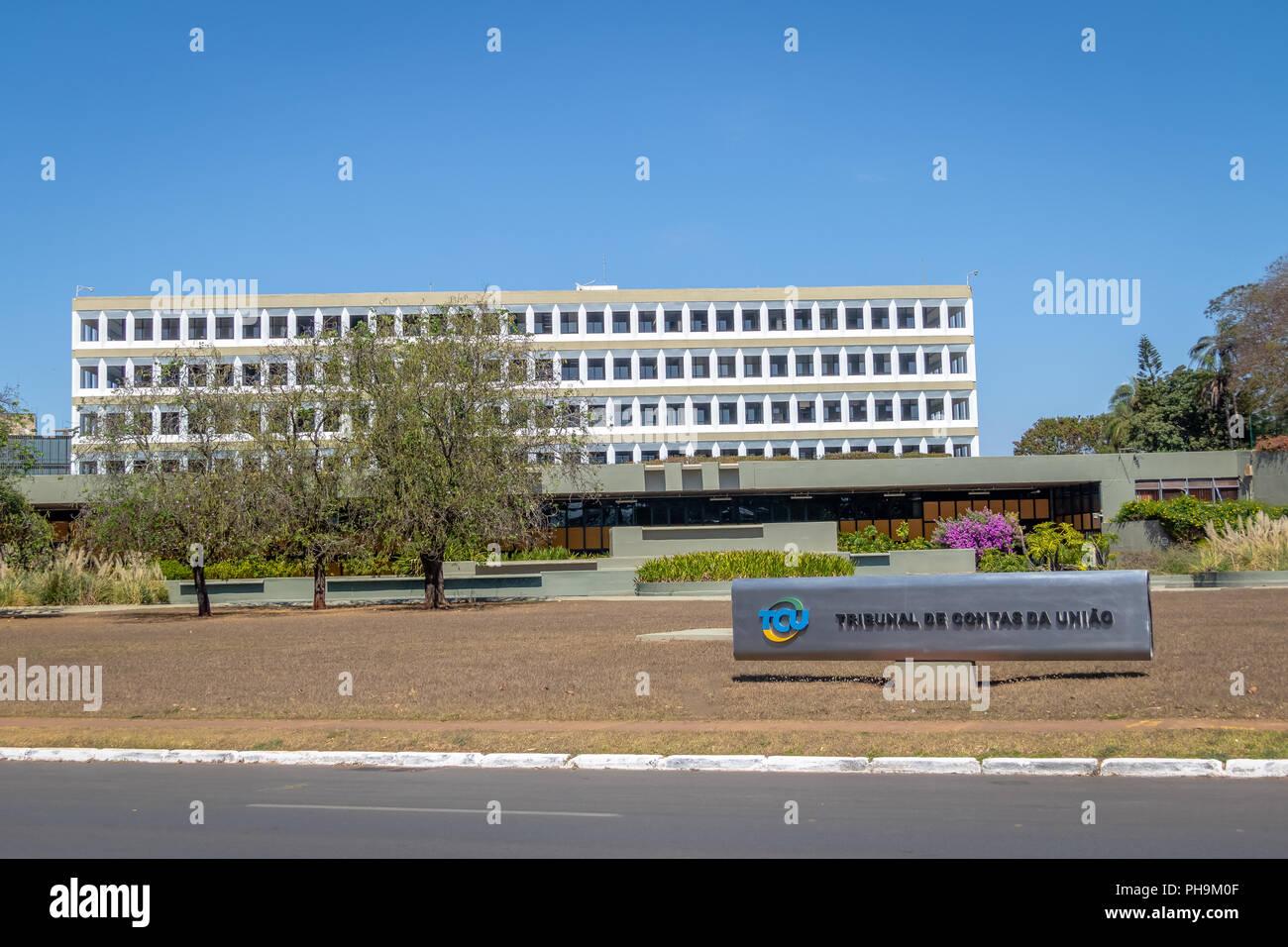 Federal Court of Accounts the Brazilian federal accountability office (Tribunal de Contas da Uniao - TCU) - Brasilia, Brazil - Stock Image