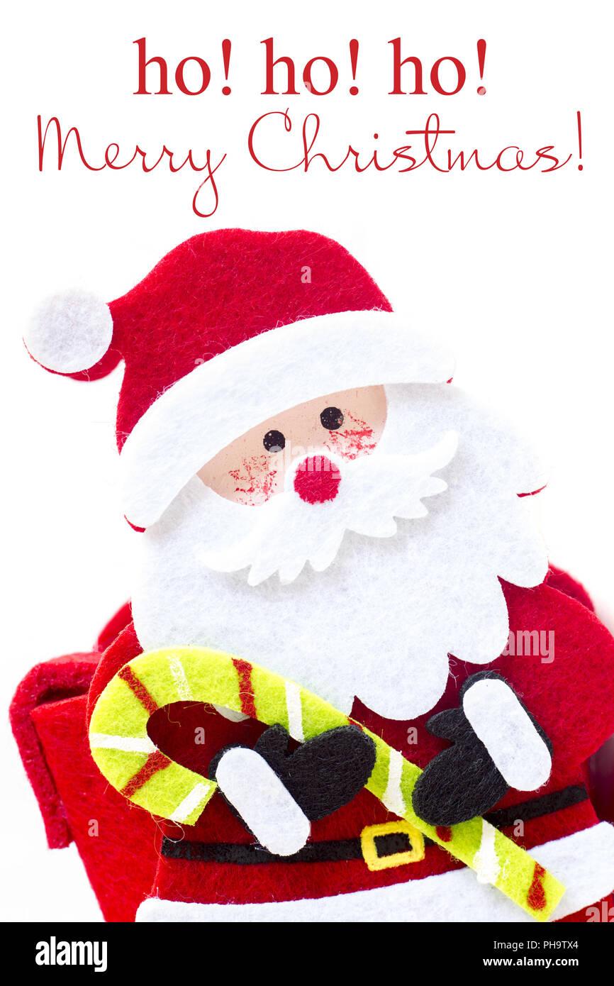 Ho Ho Ho Merry Christmas.Santa Claus Ho Ho Ho Card Stock Photo 217190684 Alamy