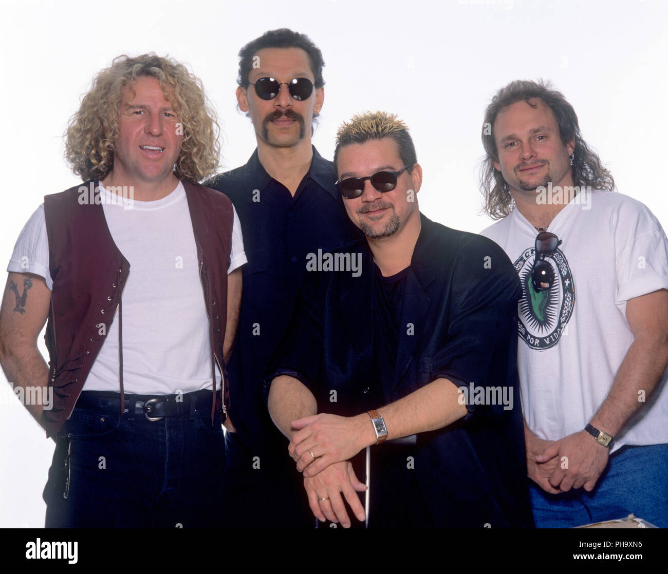 Van Halen V L Sammy Hagar Alex Van Halen Eddie Van Halen Michael Anthony On Im Juni 1995 In Ma Nchen Munich Usage Worldwide Stock Photo Alamy