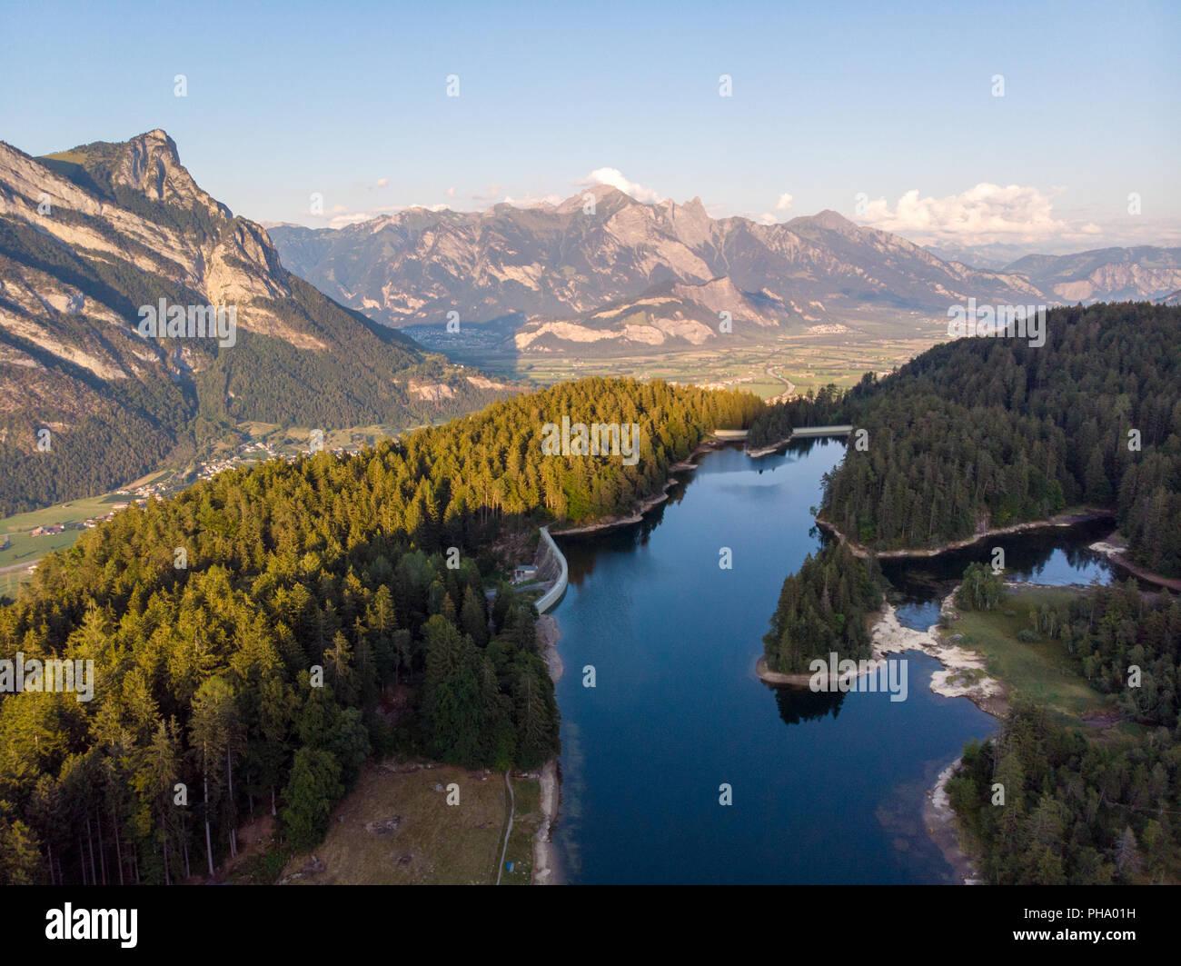 Chapfensee (Mels, Schweiz) Stock Photo