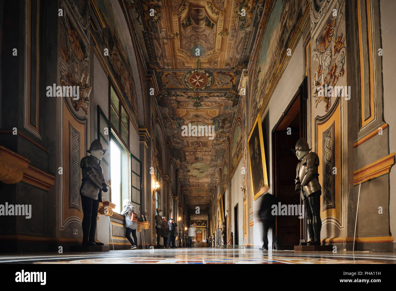 Interior of Grandmaster's Palace State Apartments, Valletta, Malta, Europe - Stock Image