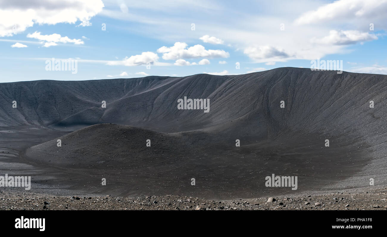 Hverfjall volcanic crater in Iceland - Stock Image