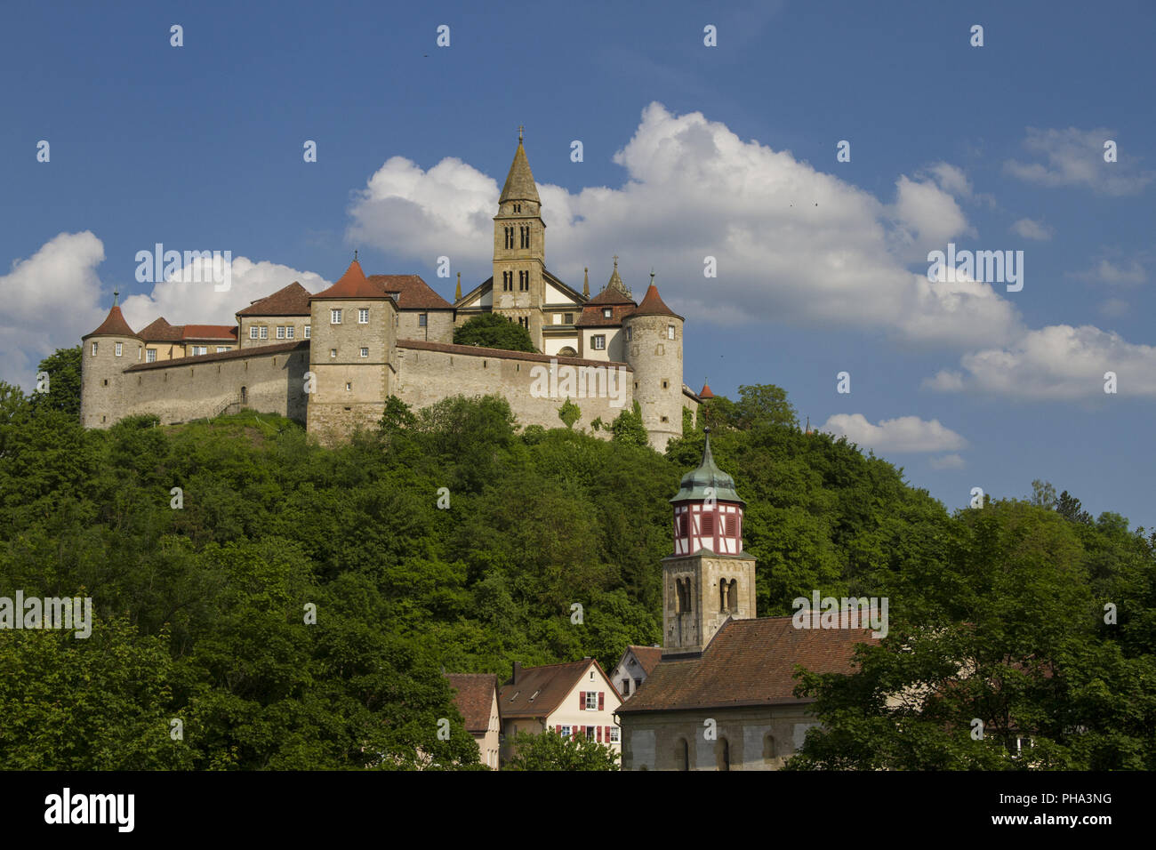 Comburg Castle in Steinbach, Baden-Wuerttemberg, Germany Stock Photo