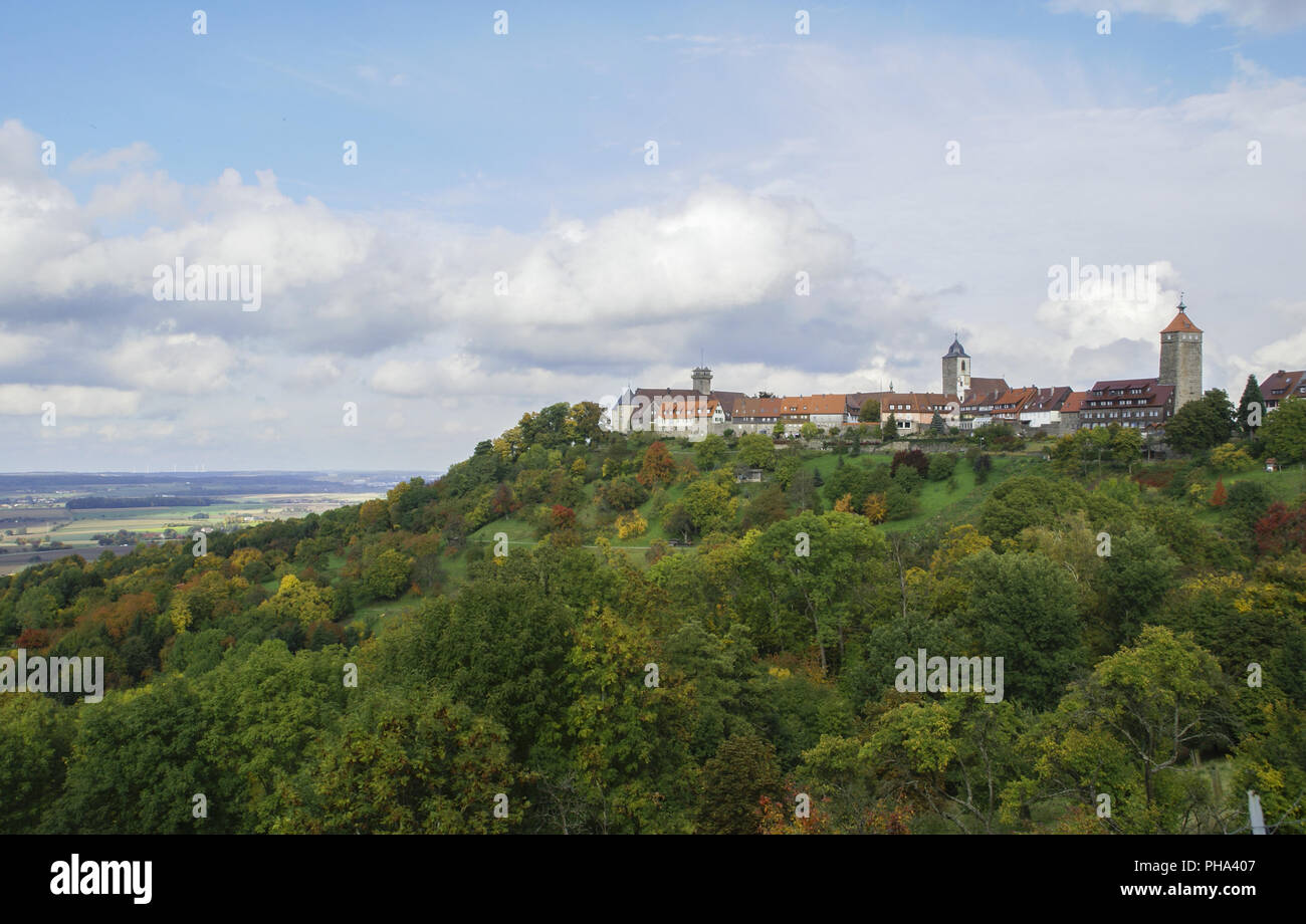 Waldenburg is a climatic spa in Baden-Wuerttemberg, Germany - Stock Image