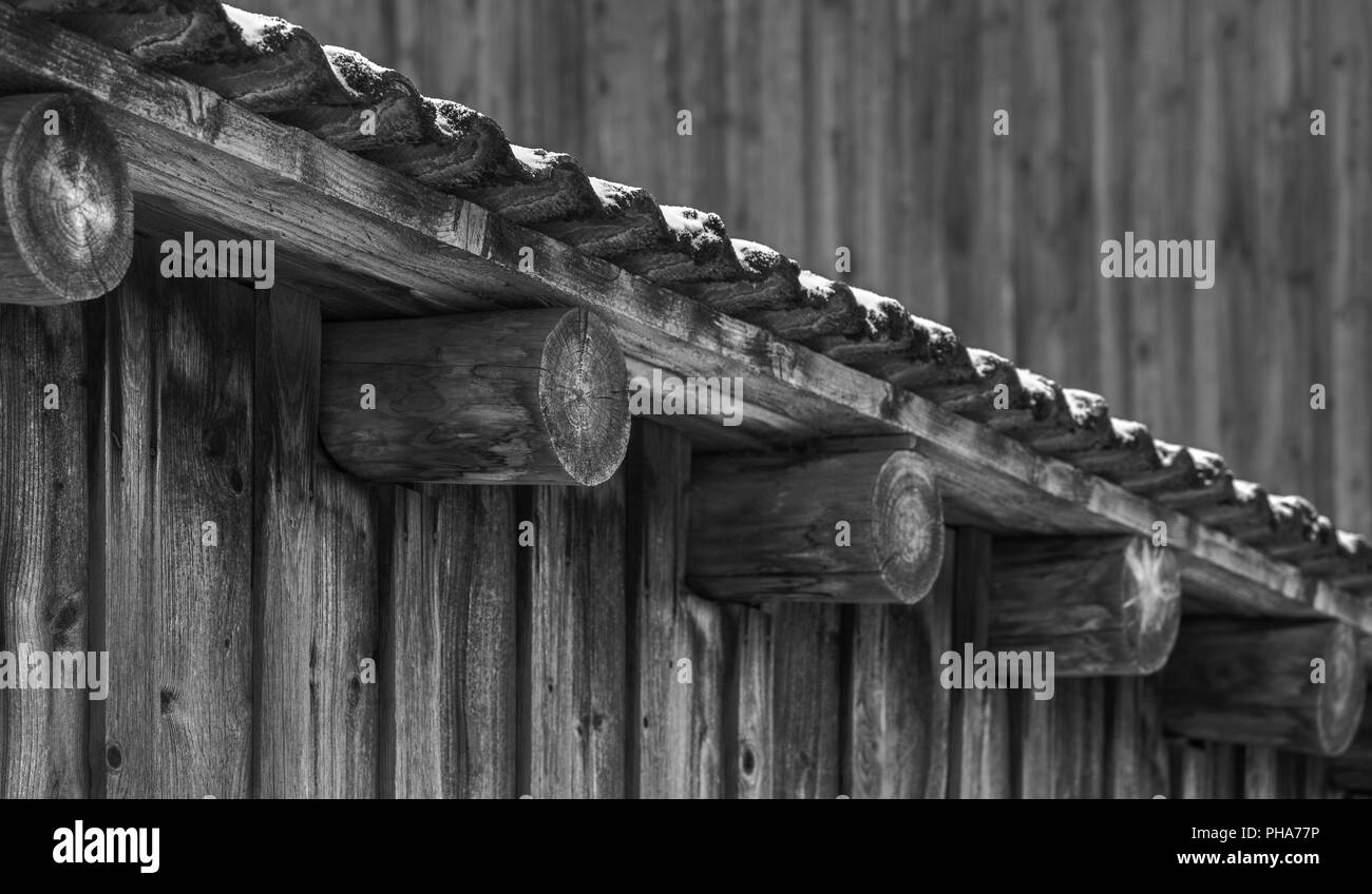 Detail of a house roof - Stock Image