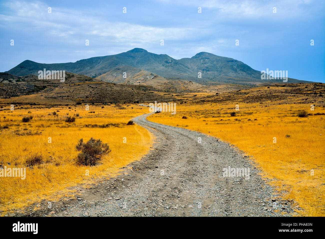 Countryside Desert Dirt Path - Stock Image