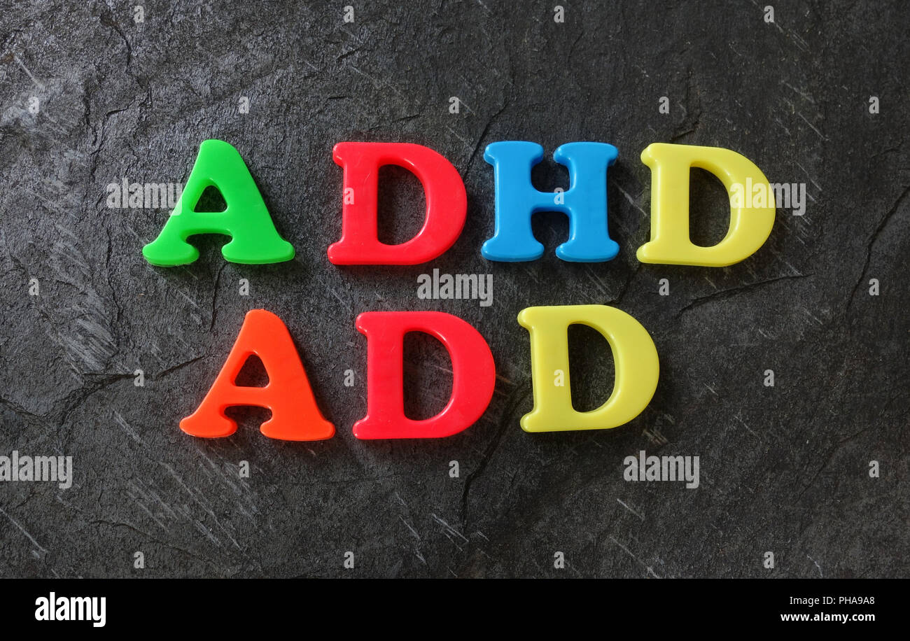 ADD and ADHD letters - Stock Image