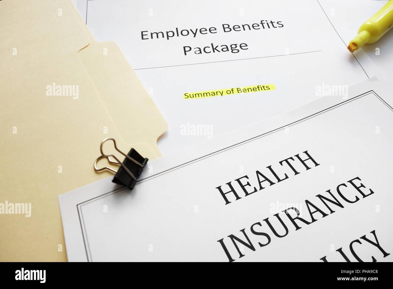 Benefits docs - Stock Image