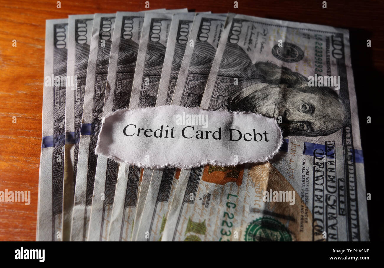 Credit card debt - Stock Image