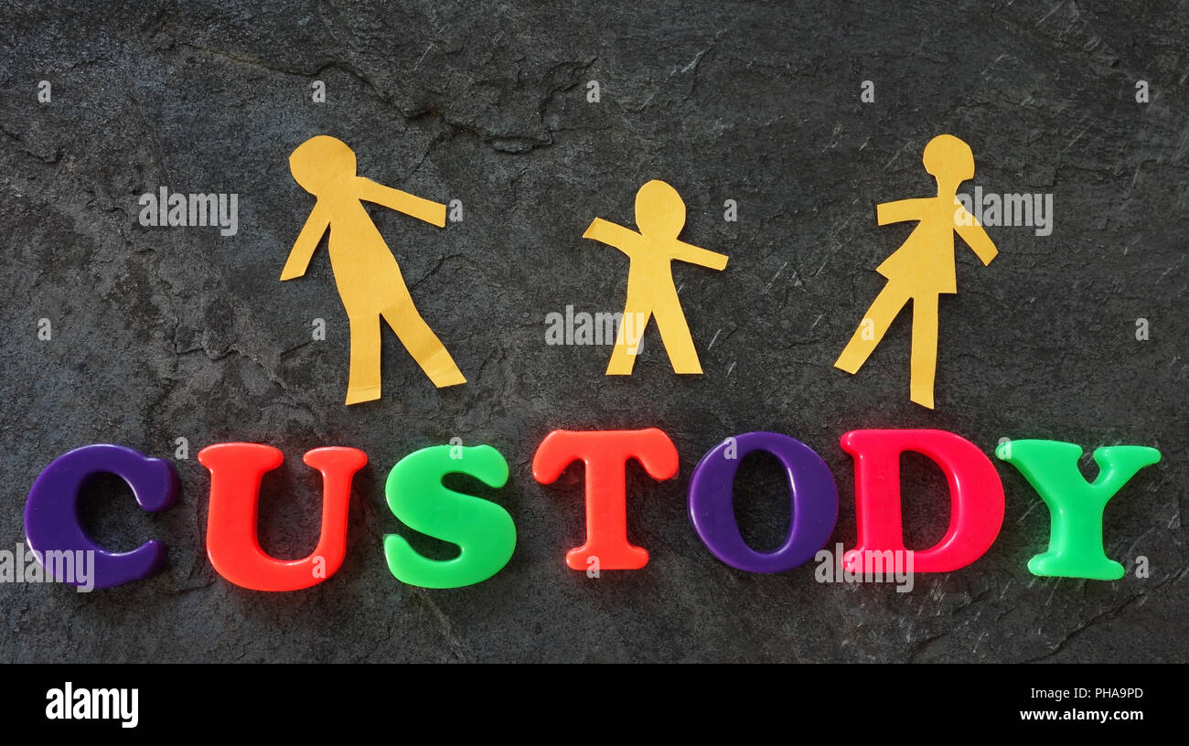 Child custody concept - Stock Image