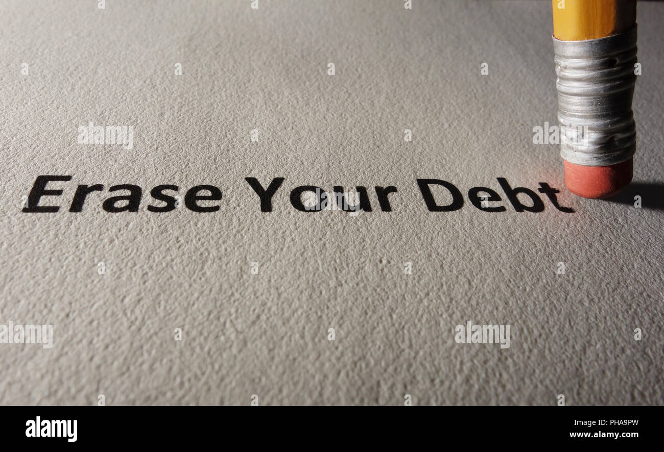 Debt problems - Stock Image