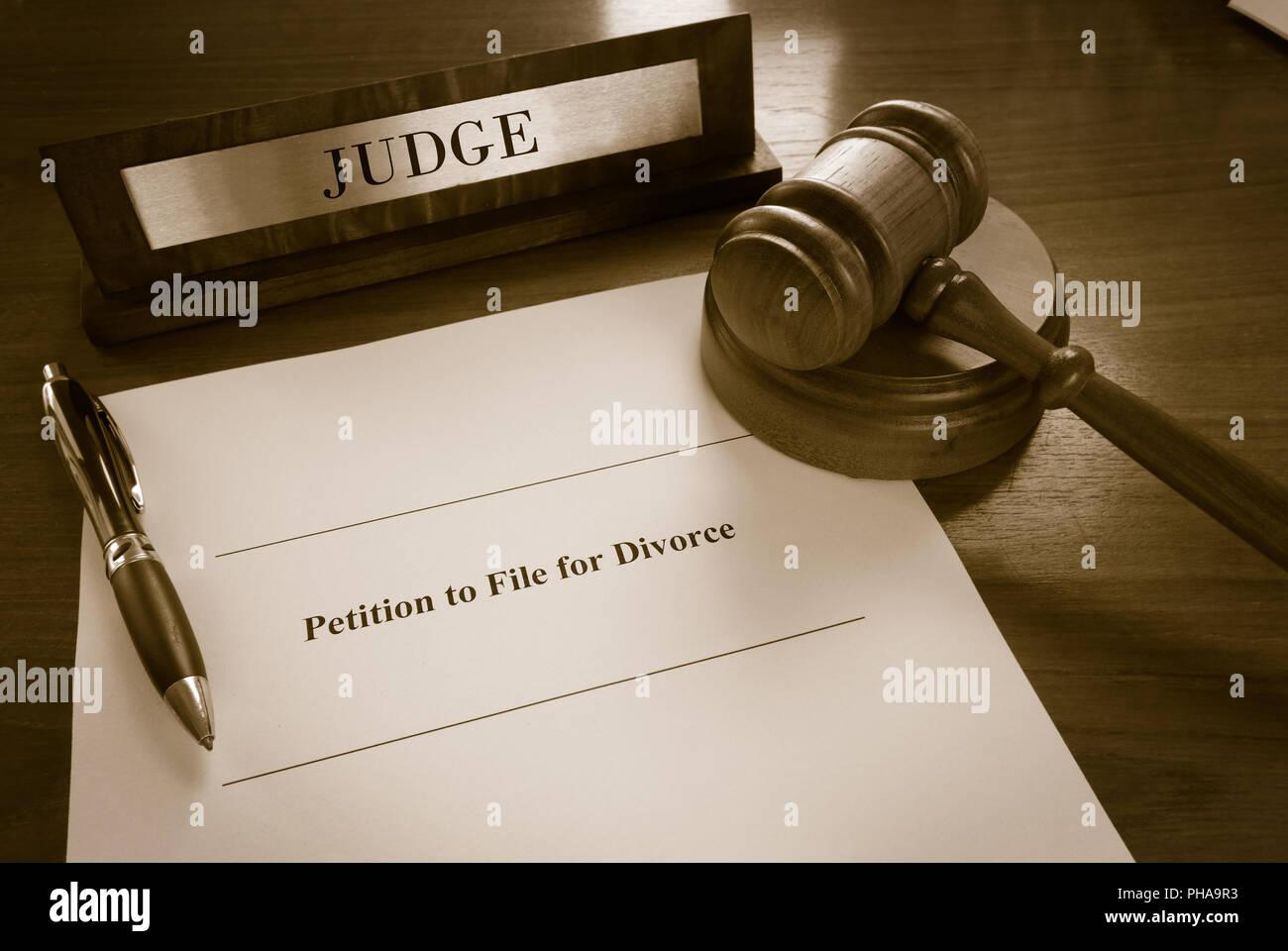 Divorce Petition - Stock Image