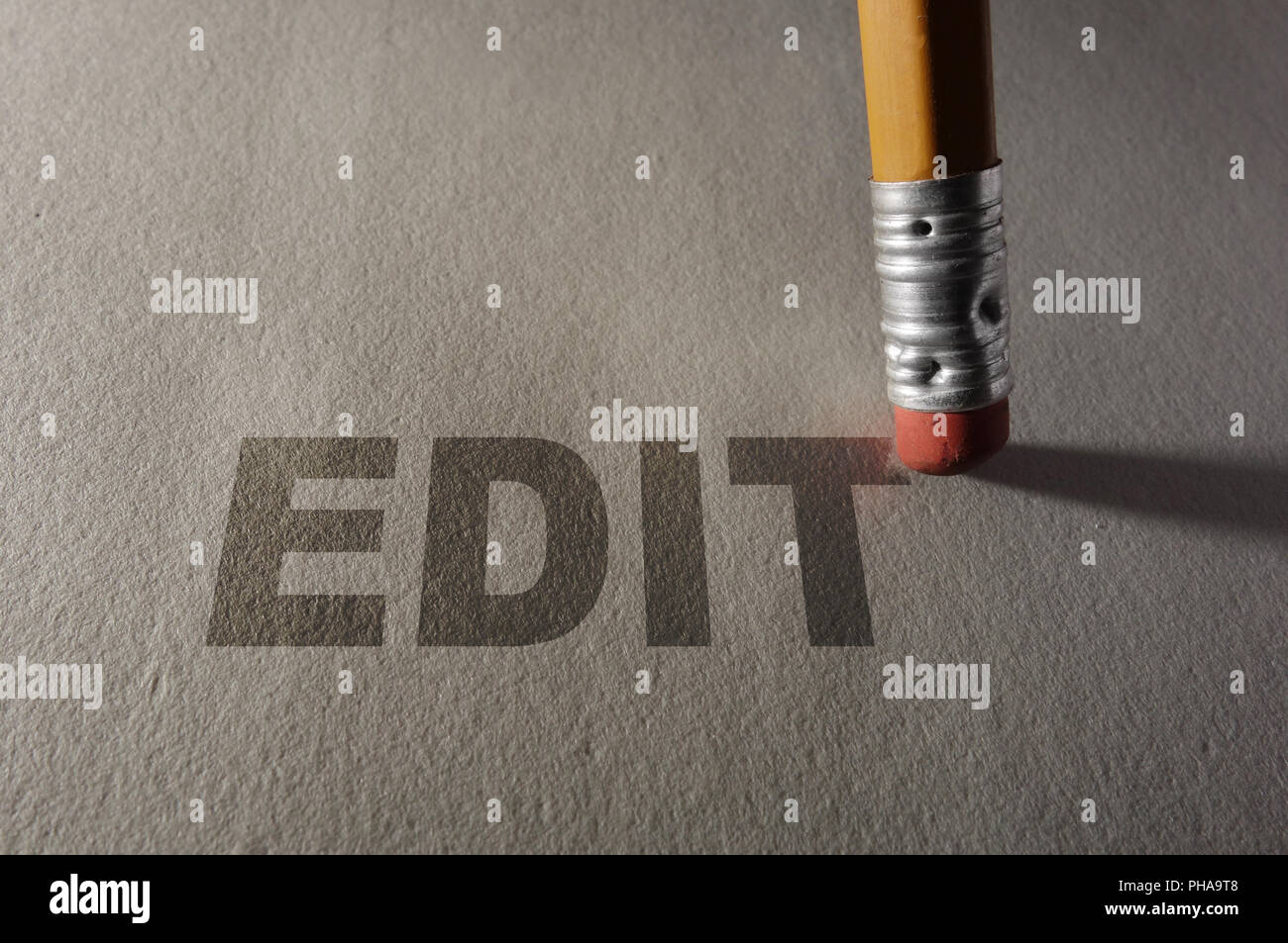 Editing a paper - Stock Image