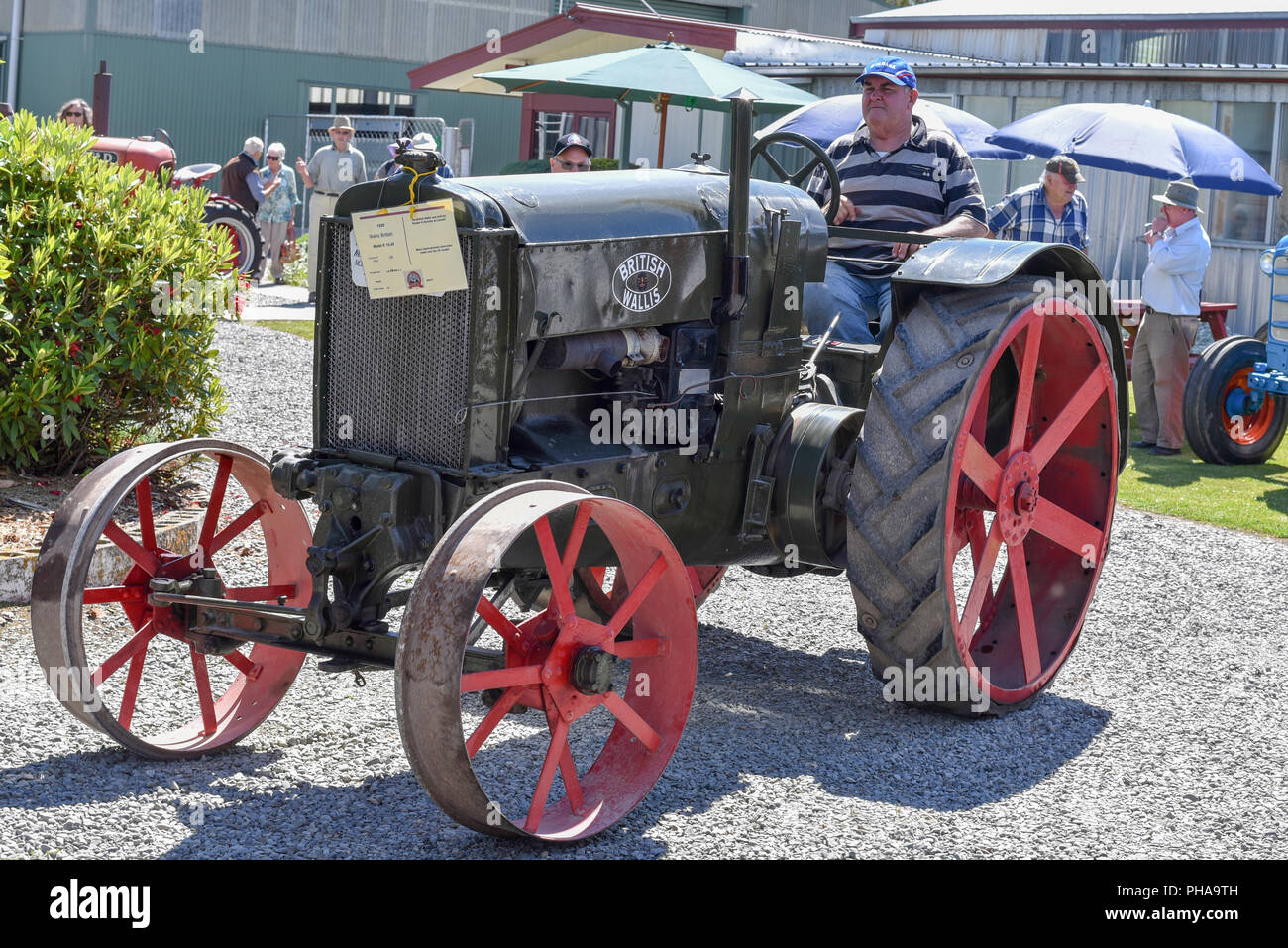 1920 Ruston and Hornsby tractor at the Geraldine Transport and Machinery Museum, Canterbury, New Zealand - Stock Image