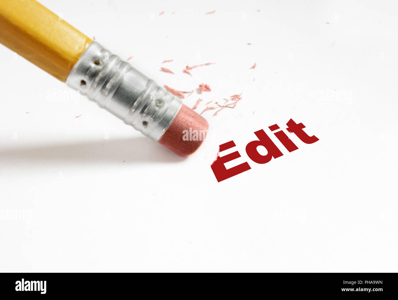 edit red - Stock Image