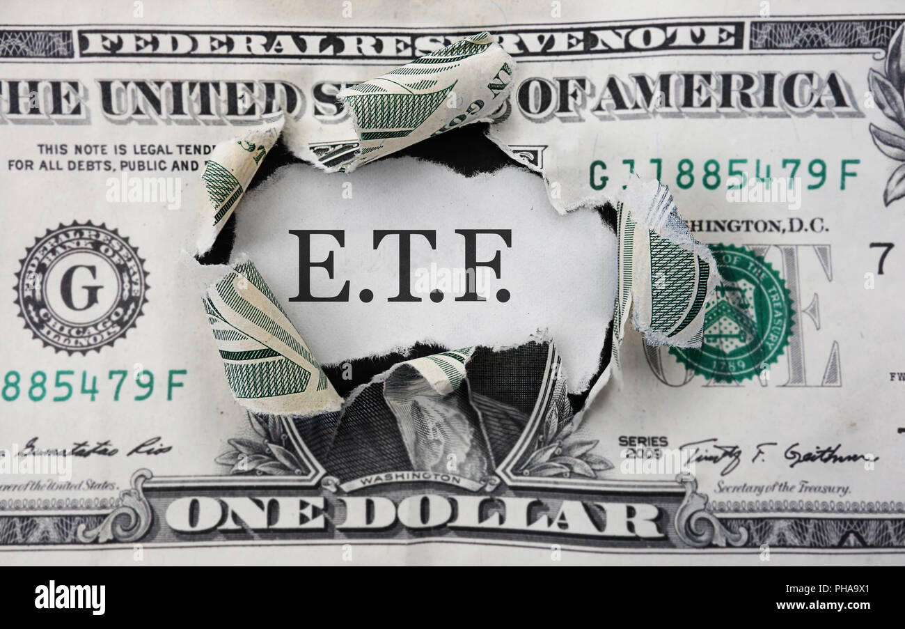 ETF investment money Stock Photo