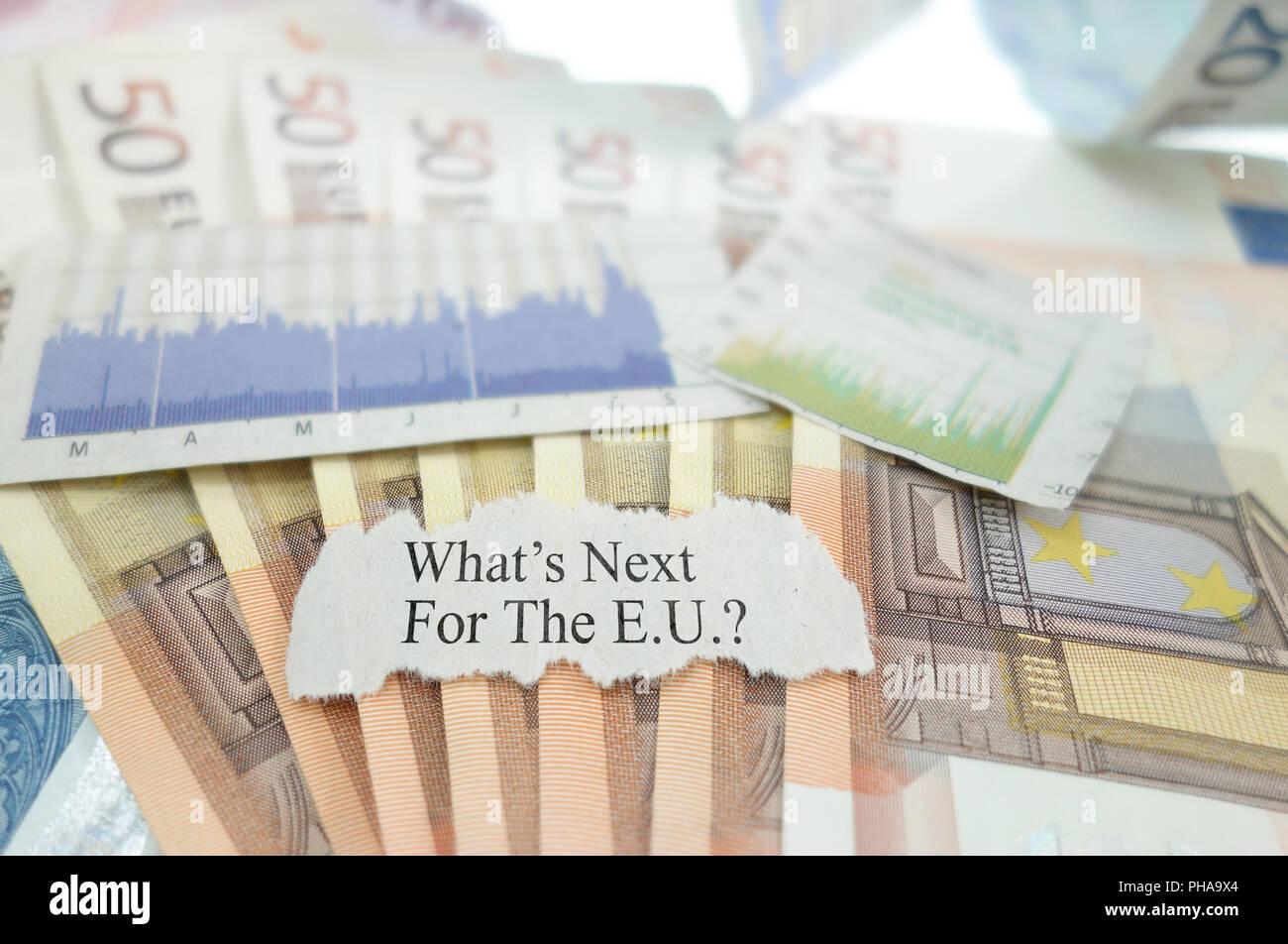 Eurozone uncertainty - Stock Image