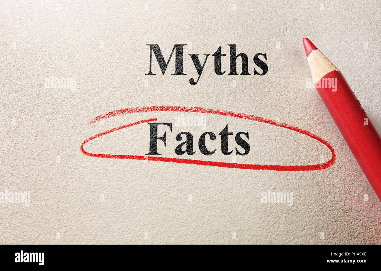Facts or myths - Stock Image